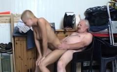 Summer job blonde student fucking grandpa employer