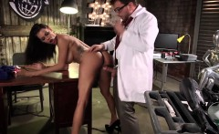 Busty stunner Peta Jensen fucked in workshed