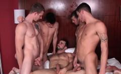 Muscular jocks cocksucking group session