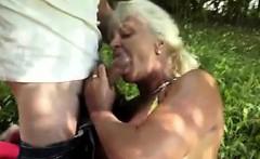 horny granny get fucked in the garden - Fuck from MILF-MEET.