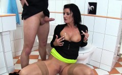 Piss soaked slut spunked