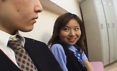 Japanese OL spitting on coworker - Date her on DOM-MATCH.COM