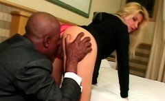 Big butt blondie gets ass licked by horny black thug