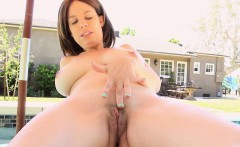 big breasted milf kelly capone masturbates in the hot tub