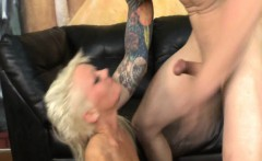 Ruby Octroi bleach blonde face fucked