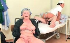 Czech Nurse fucks old patient near his wife