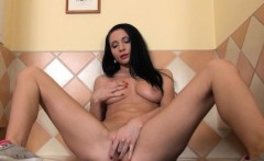 Gaping and gyno dildoing her sweet pussy