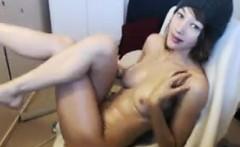Pretty Teen Girl Oils Up Her Body