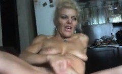 Mature Blonde Whore Masturbates