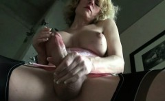Hottest Shemale EVER Makes Herself Cum
