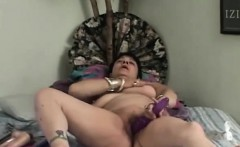 Naughty granny got some dildos