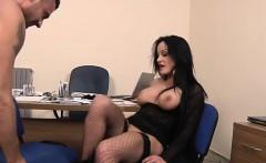 Italian Mila analfucked in stockings