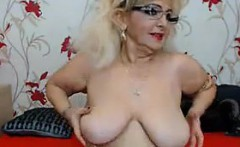 Fat Granny Stripping And Smoking