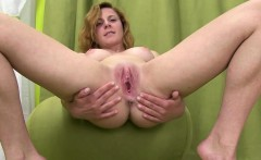 Her vagina cunt fully opened and gaped