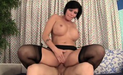 Hot Brunette Gets Orgasm With A Male