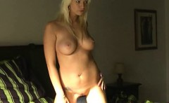 Sexy chick with BIG boobs lapdancing
