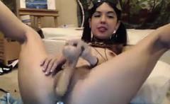 Strange Webcam Girl Masturbates