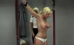 Blonde Whore Flogged By Two Mistresses