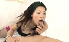 Ryo Sasaki enjoys cock deepi in her juicy bush