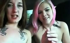 Two Teen Lesbians In A Car