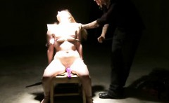 Blonde Tied To A Chair Whipped Shocked And Toyed