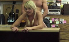 Cute blonde in need of cash gets fucked