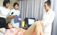 Asian wife is examining female workers