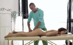 Angela never thought erotic oil massage would make her so