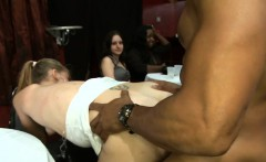College angel gets drilled while her best friend gives head.