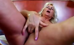 Granny Maris fingering her old cunt
