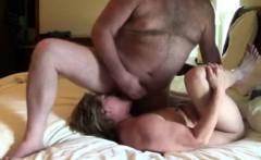 He unloads his hot cum on his wife