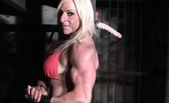 Muscular Lacey Has Deep Throat Skills