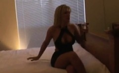 Stacked blonde wife has a black bull filling her peach with