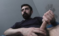 White man sucks and fucks a black cock at a gloryhole