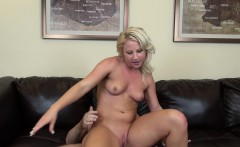 Wild blonde Kimmy Olsen knows how to work her wet pussy on a hard dick