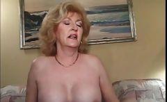 Blonde mature fucking horny penis