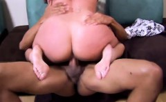 Two luscious babes getting deeply drilled by a black bull on the sofa