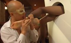 Japanese getting feet licked on GH