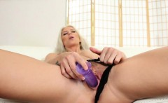 Brooke plays with a dildo