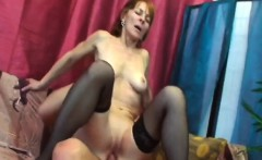 horny redhead granny is ready to fuck