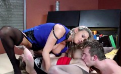 Busty milf sixtynines with babe on officedesk