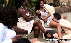 White Slaves Making Black Mistress Wet