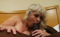 Naughty mature woman with big boobs Stacey is addicted to black meat