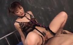 Deep penetration stimulation for sensual Mao Saito
