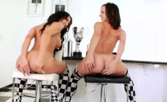 Nasty lesbians fill up their big bootys with whipped cream a