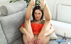 slutty czech girl opens up her yummy vagina to the extreme
