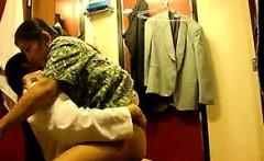 Filipino dispatch crews fucking in toilet