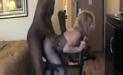 Attractive adult blonde experiencing black dick that is war