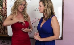 milfs jodi west and brandi love team up for taboo handjob