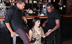 Waitress Mercedes Carrera Blows Her Black Customers